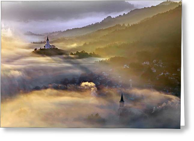 Morning Greeting Cards - Once Upon A Time Greeting Card by Matjaz Cater