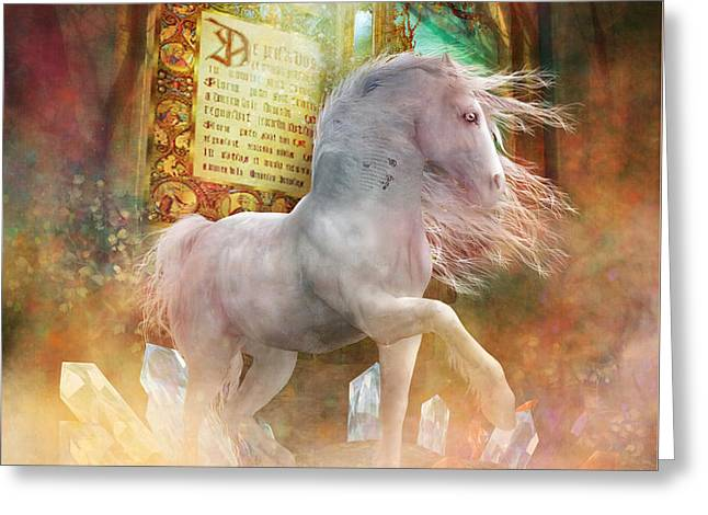 Unicorns Greeting Cards - Once Upon a Time Greeting Card by Shanina Conway