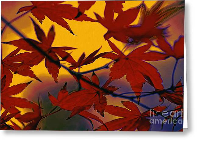 Autumn Scenes Greeting Cards - One Autumn Evening by Kaye Menner Greeting Card by Kaye Menner