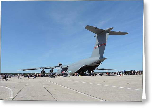 Military Airplanes Greeting Cards - One Big Bird Greeting Card by Bill Tomsa