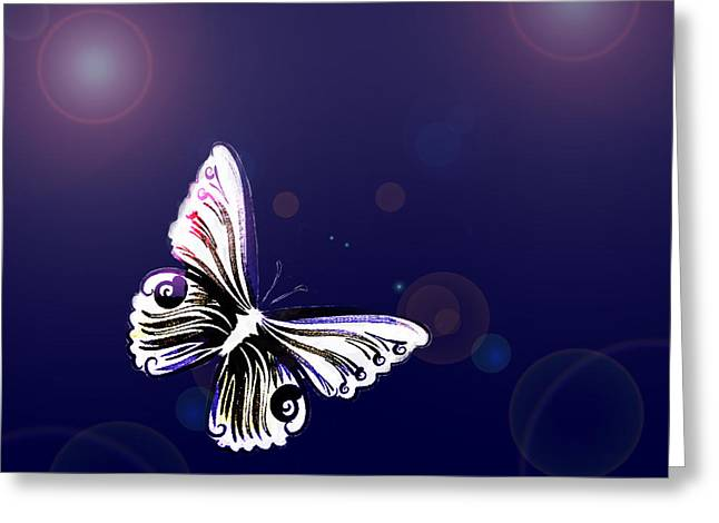 Texturen Greeting Cards - One Butterfly Greeting Card by Tanja Riedel