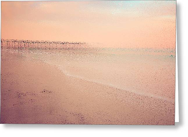 White Digital Greeting Cards - One Calm Day 02 Greeting Card by Mark Hazelton