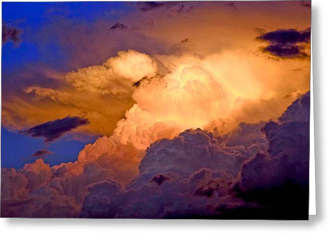 Storm Prints Greeting Cards - One Cloudy Afternoon Greeting Card by James Steele