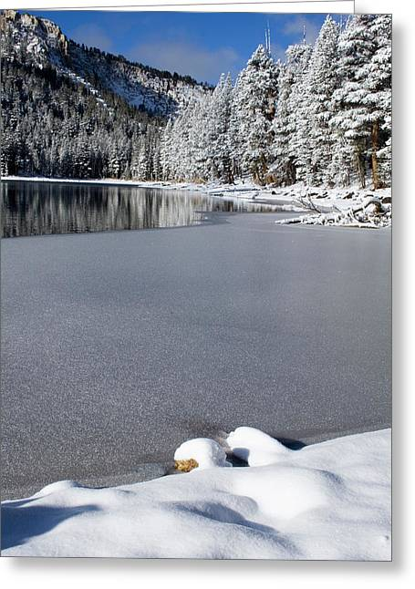 Snow Scenes Greeting Cards - One Cool Morning Greeting Card by Chris Brannen