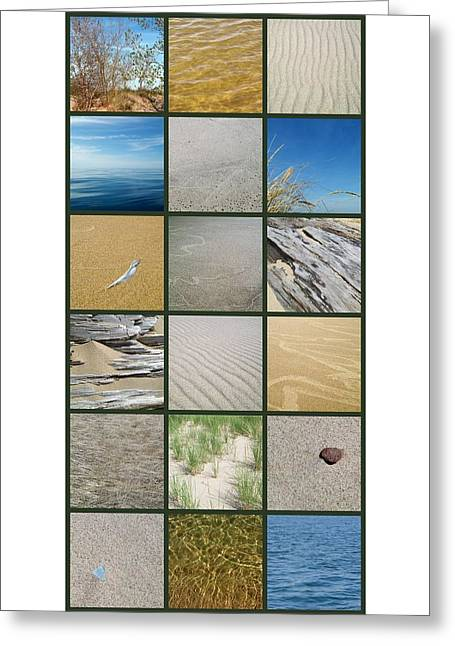 One Day At The Beach Ll Greeting Card by Michelle Calkins