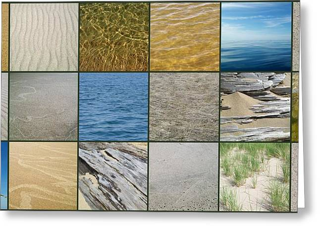 Sand Patterns Greeting Cards - One Day at the Beach  Greeting Card by Michelle Calkins