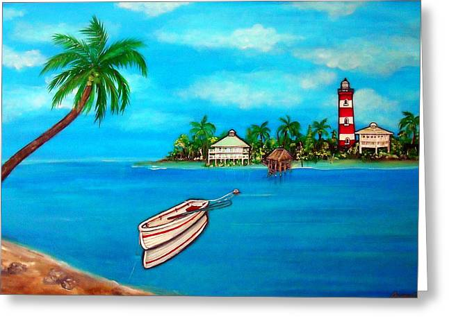 Carter House Paintings Greeting Cards - One Fine Day Greeting Card by Pristine Cartera Turkus