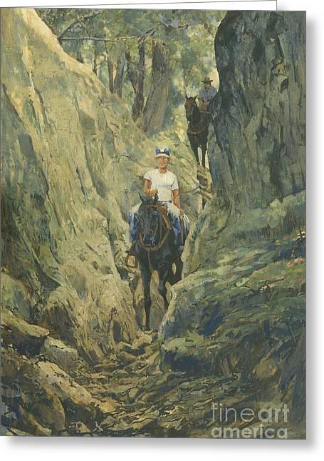 One Horse Gap Greeting Card by Don  Langeneckert