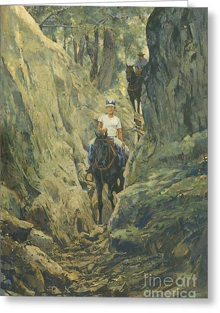 Trail Ride Greeting Cards - One Horse Gap Greeting Card by Don  Langeneckert