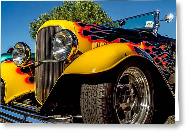 Classic Ford Roadster Greeting Cards - One Hot 32 Greeting Card by Steve Benefiel
