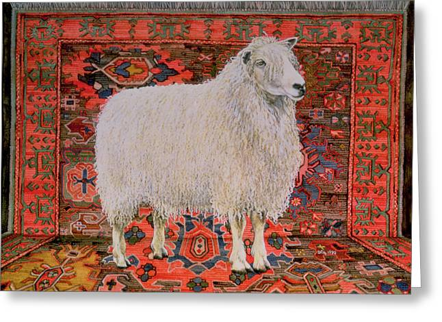 Shaggy Greeting Cards - One Hundred Percent Wool Greeting Card by Ditz