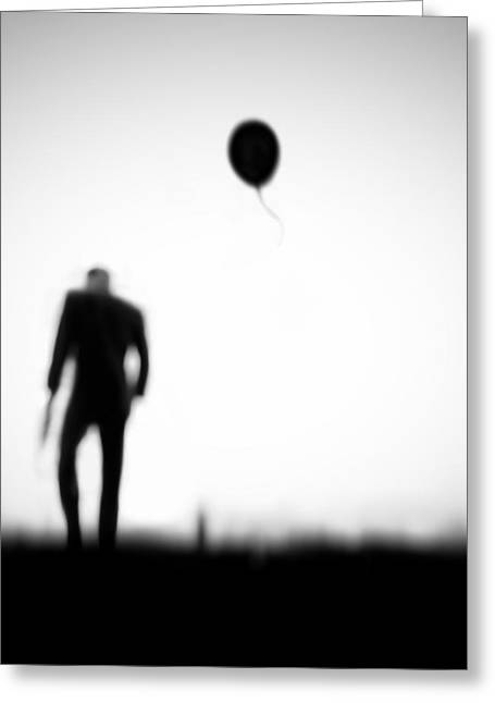 Balloons Greeting Cards - One Last Chance Greeting Card by Hengki Lee