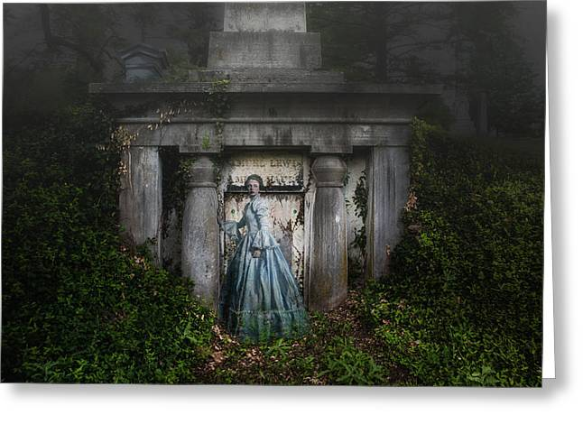 Grave Greeting Cards - One Last Look Greeting Card by Tom Mc Nemar
