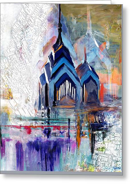 One Liberty Place And Two Liberty Place 229 1 Greeting Card by Mawra Tahreem