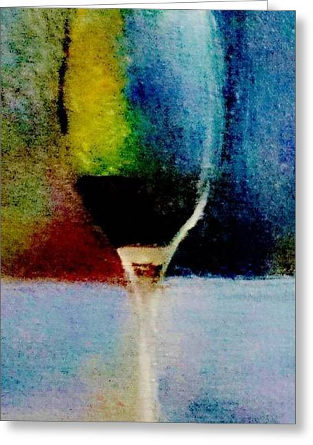Wine-glass Greeting Cards - One Greeting Card by Lisa Kaiser