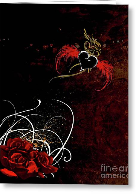 One Love, One Heart Greeting Card by Linda Lees