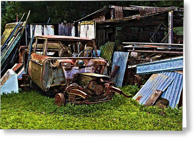 Junk Digital Greeting Cards - One Mans Trash Greeting Card by Patricia Stalter