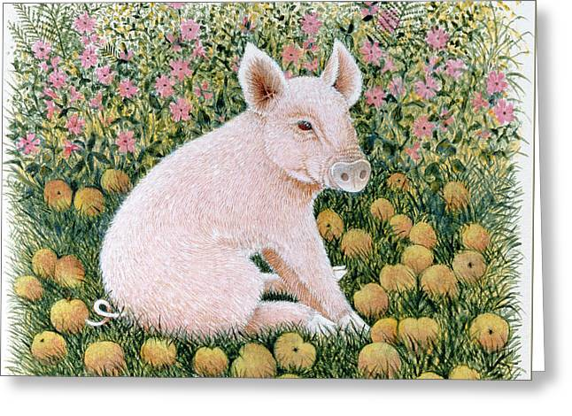 One More Apple Greeting Card by Pat Scott