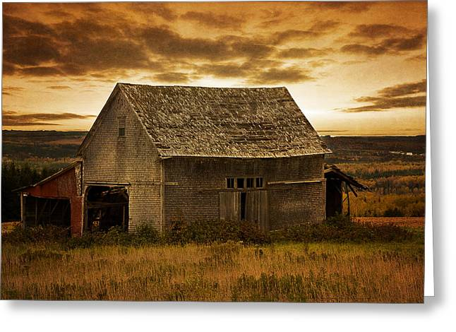 Recently Sold -  - Old Maine Barns Greeting Cards - One More Day Greeting Card by Gary Smith