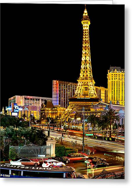 Las Vegas Greeting Cards - One Night In Vegas Greeting Card by Az Jackson