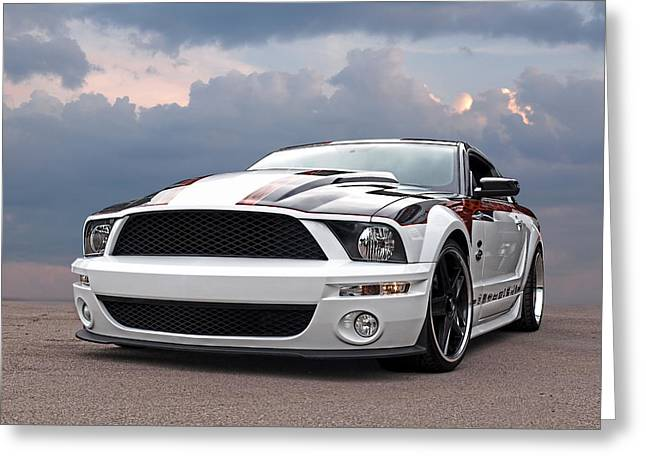 One Of A Kind Mustang Greeting Card by Gill Billington