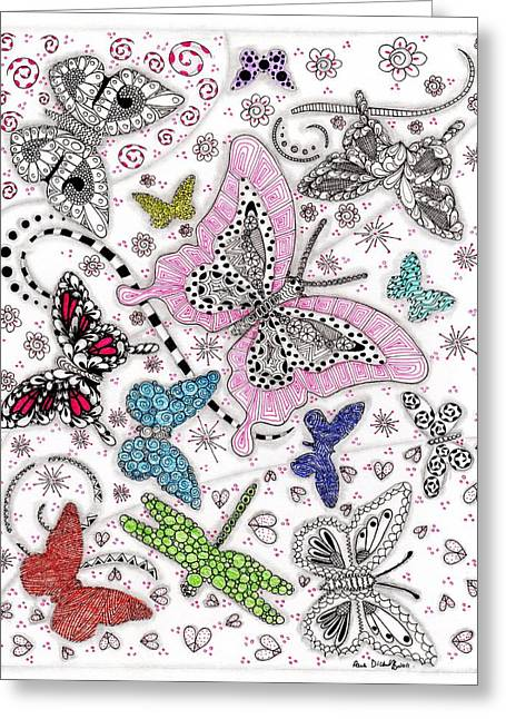 Paula Dickerhoff Greeting Cards - One of These Things is Not Like the Other Greeting Card by Paula Dickerhoff