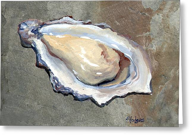 Raw Oyster Greeting Cards - One Oyster Greeting Card by Elaine Hodges