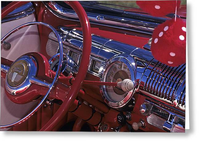 Hot Pink Custom Greeting Cards - One Really Red Ford Greeting Card by Doug Davidson