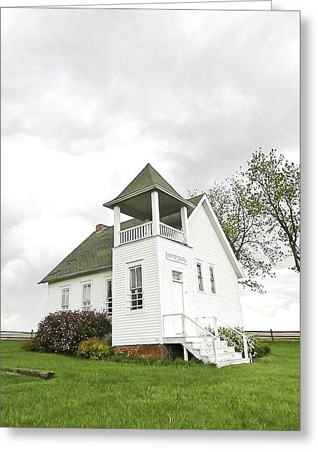 Country Schools Greeting Cards - One Room School House Greeting Card by Christine Belt