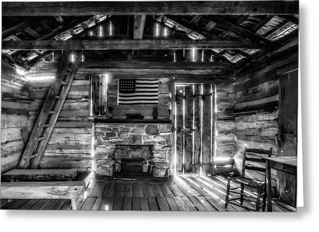 Crawford County Greeting Cards - One Room Schoolhouse II Greeting Card by James Barber