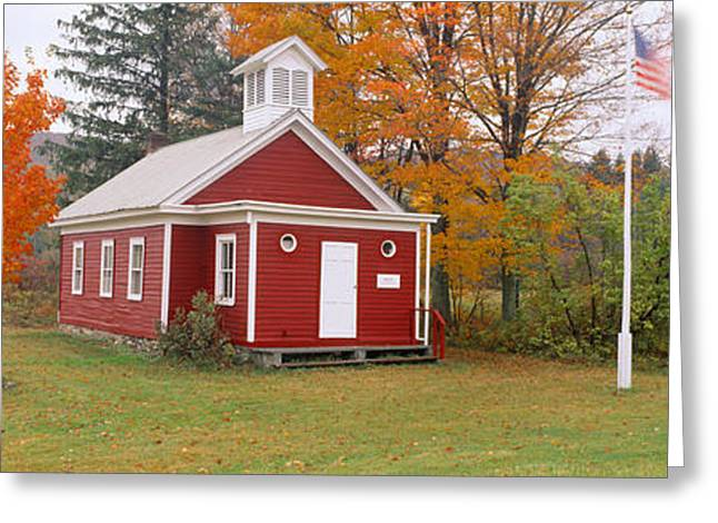 Color Glory Greeting Cards - One-room Schoolhouse In Austerlitz Greeting Card by Panoramic Images