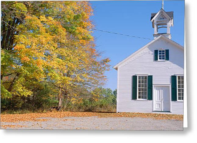One-room Schoolhouse In Upstate New Greeting Card by Panoramic Images