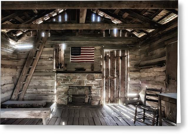 Crawford County Greeting Cards - One Room Schoolhouse Greeting Card by James Barber
