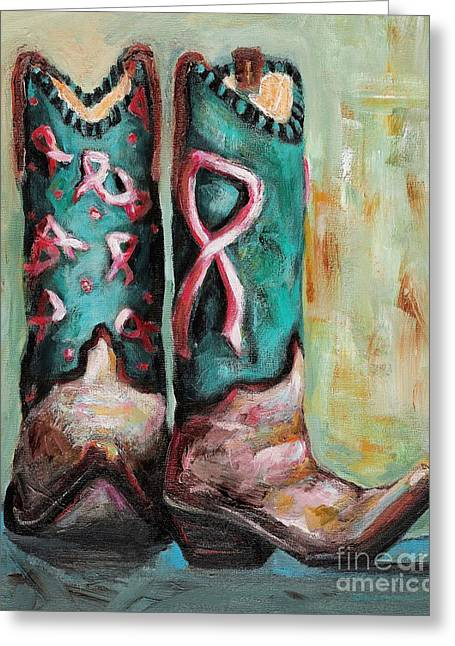 Cowgirl Boots Greeting Cards - One Size Fits All Greeting Card by Frances Marino