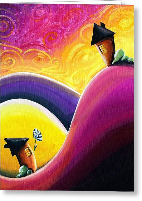 Couples Paintings Greeting Cards - One Song Greeting Card by Cindy Thornton