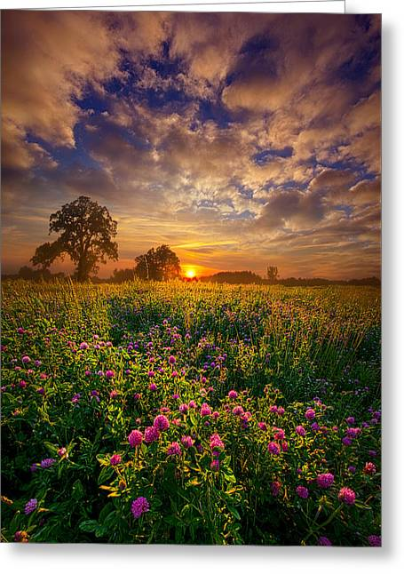 Country Life Greeting Cards - One Step Closer Greeting Card by Phil Koch
