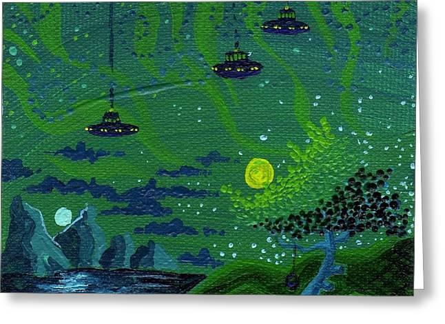 Dan Keough Greeting Cards - One Strange Night Greeting Card by Dan Keough