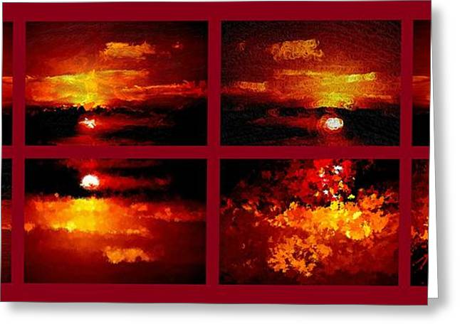 Unset Greeting Cards - One Sunset Many Interpretations Greeting Card by Bruce Nutting