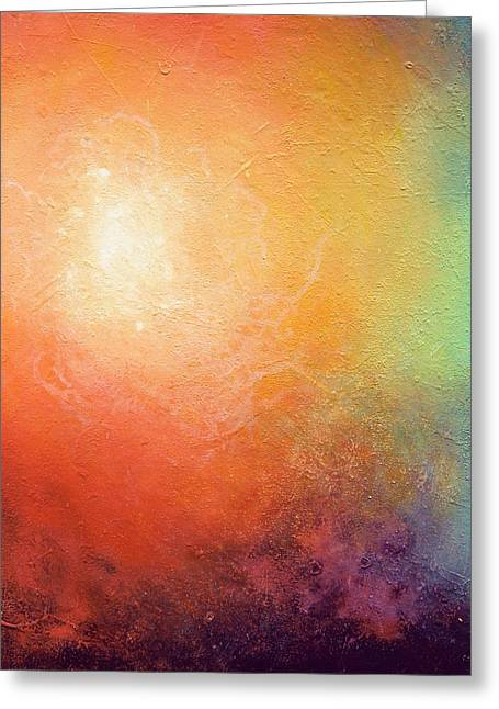Abstract Prints For Sale Greeting Cards - One Verse - Triptych 2 Of 3 Greeting Card by Jaison Cianelli