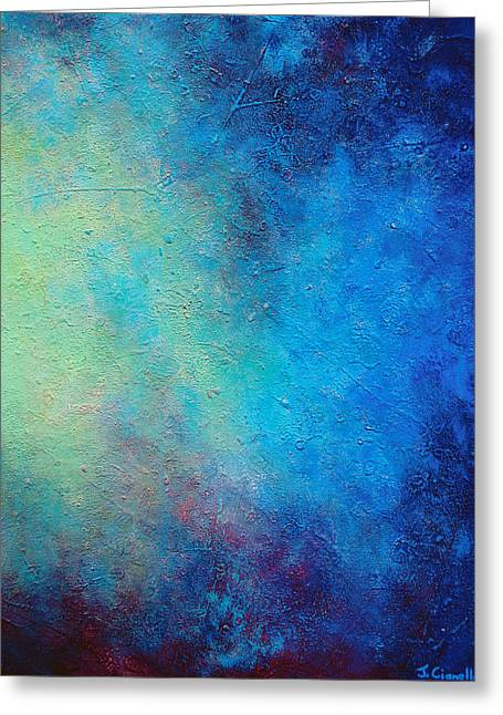Abstract Prints For Sale Greeting Cards - One Verse - Triptych 3 Of 3 Greeting Card by Jaison Cianelli