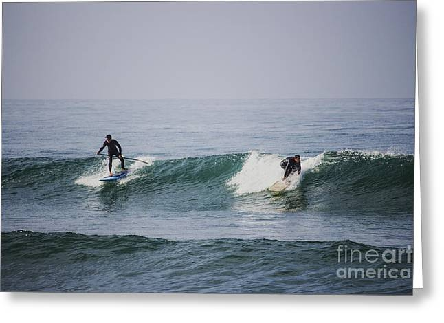 Surfing Photos Greeting Cards - One Wave  Greeting Card by Oscar Bahena