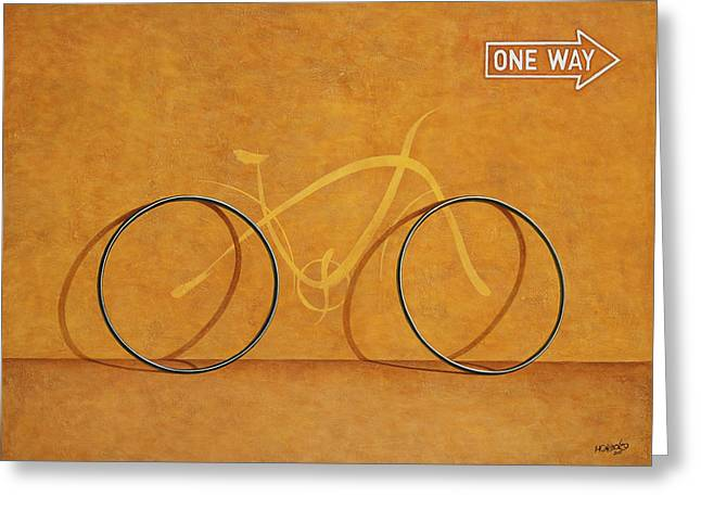 One Greeting Cards - One Way Greeting Card by Horacio Cardozo
