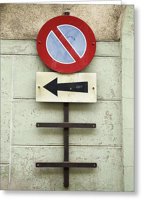 Swiss Photographs Greeting Cards - One Way  Greeting Card by Colleen Williams