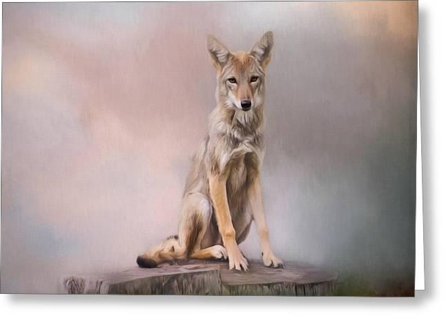 One - Wildlife Art Greeting Card by Jordan Blackstone