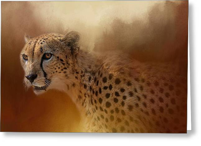 Cheetah Photographs Greeting Cards - One With The Sun Greeting Card by Jai Johnson