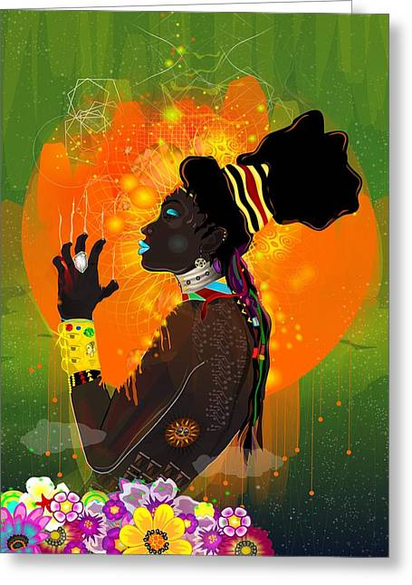 Absorb Digital Art Greeting Cards - One with the Sun Greeting Card by Kevin Philippe