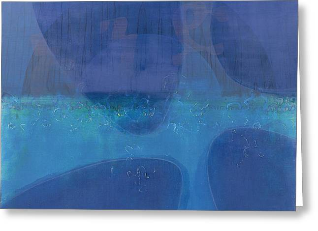 Sea Contemporary Abstract Greeting Cards - One World Greeting Card by Charlie Millar