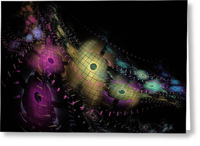 One World No.6 - Fractal Art Greeting Card by NirvanaBlues
