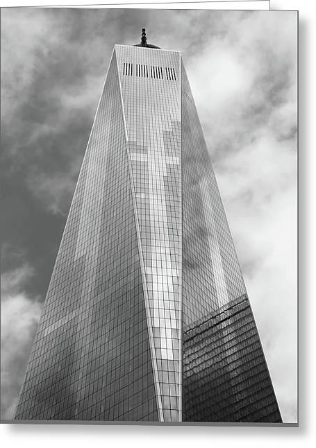 One World Trade Center Greeting Card by Rona Black