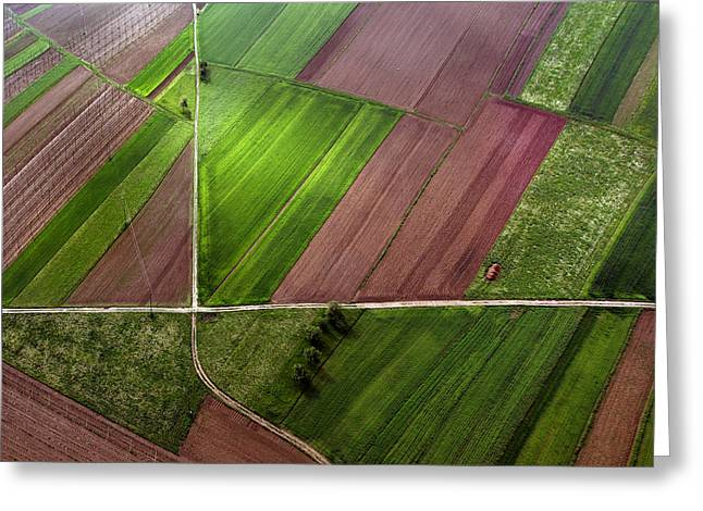 Aerials Greeting Cards - One  X Greeting Card by Matjaz Cater